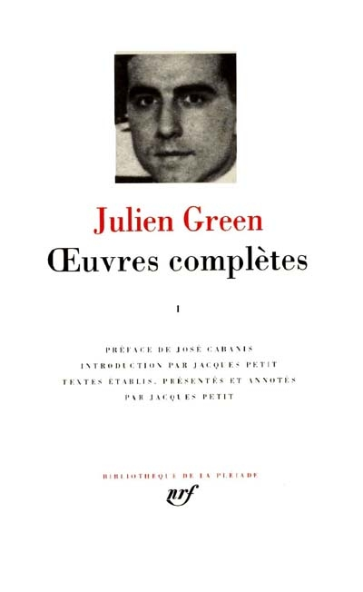 Green : Oeuvres compl�tes, tome 1 par Green