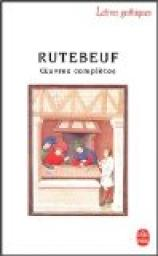 Oeuvres compl�tes par Rutebeuf